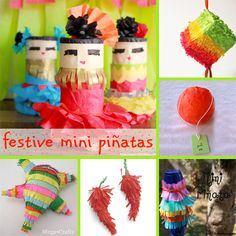 6 Festive Mini Piñatas for Cinco de Mayo