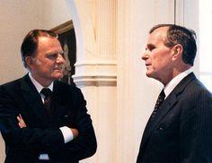 Rev. Billy Graham and President George H.W. Bush