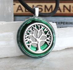 forest green tree of life necklace, celtic jewelry, tree necklace, elven jewelry, forest jewelry, unique gift, nature necklace, oak tree by NatureWithYou on Etsy
