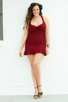 WAY cute and nice that its different from the normal super bright colors available, retro inspired swimsuit in plus sizes