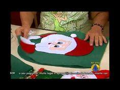 Capa de vaso sanitário de papai Noel no programa Sabor de Vida