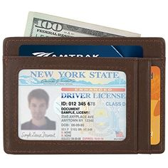 Slim Wallet RFID Front Pocket Wallet Minimalist Secure Thin Credit Card HolderCoffeeOne Size >>> You can get more details by clicking on the image.