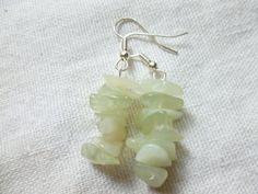Jewelry  Sea Green New Jade Earrings Earthy and by christineconrad, $8.00