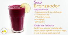 Suco bronzeador para prolongar a cor do verão! Veja outros alimentos que podem contribuir para o seu bronzeado http://maisequilibrio.com.br/beleza/altas-temperaturas-combina-com-corpo-bronzeado-6-1-5-628.html
