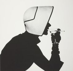 Irving Penn, Woman in Dior Hat with Martini (Lisa...