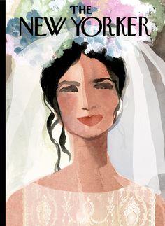 Academy of Art University: News & Events. New Yorker Covers, The New Yorker, Magazine Art, Magazine Covers, Wedding Art, Vintage Magazines, Naive, Cartoon Drawings, Beautiful Bride