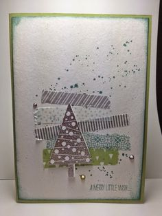 """Simple wash tape card and the """"Festival of Trees"""" stamp set.. out today!"""