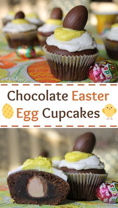 These adorable chocolate Easter Egg Cupcakes are super easy to make but so cute!