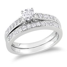 So Pretty!  It might be small but it is just the right amount of sparkle. :)  1/2 CT. T.W. Diamond Bridal Set in Sterling Silver