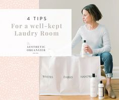 4 Tips for a Well-Kept Laundry Room #laundryroom #laundry #gocleanco #laundress #laundryroomdesign #laundryroomideas #howtiwashdelicates Linen Closet Organization, Closet Storage, Bathroom Organization, Organization Hacks, Small Space Solutions, Laundry Room Design, Tidy Up, Wellness, Tips