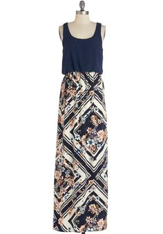 Poetry Glam Dress. Perfect the flow of your prose while adding some to your pose in this breezy maxi dress! #multi #modcloth