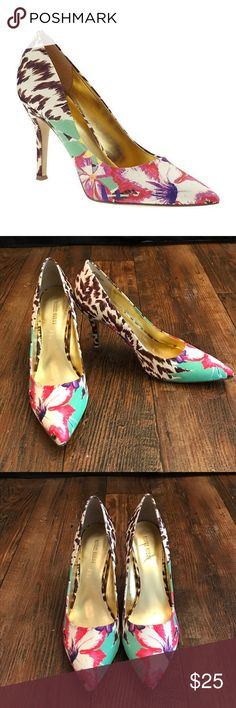 Nine West Floral/Animal Print Heels ✔️ Comes from a smoke free home ✔️ Poshmark Suggested User ✔️ Top-Rated Seller ✔️ Fast Priority Mail Shipping Nine West Shoes Heels