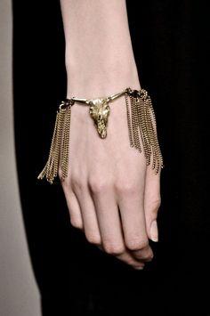 Boho style brass bracelet