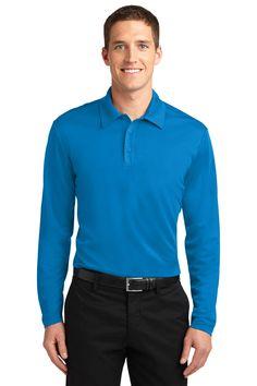 Port Authority Silk Touch™ Performance Long Sleeve Polo. K540LS Brilliant Blue