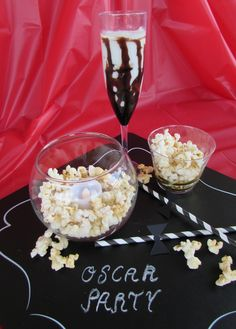 Oscar Party ideas. For an easy viewing party. No cooking or baking involved just easy fun decor and desserts!