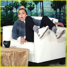 Miley Cyrus guest hosts Ellen show for sick Ellen DeGeneres Miley Cyrus, Miley Stewart, Happy Hippie Foundation, Film Big, Ellen Degeneres Show, Billy Ray, The Ellen Show, Hannah Montana, Gwen Stefani