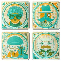 letterpress coasters were created by the Parliament of Owls for the Cranky Pressman Printery & Bindery