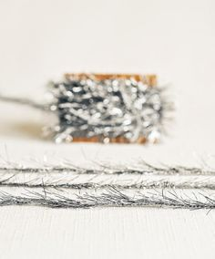 Tinsel Twine in Pewter Gray  6 Yards  by thatchandthistleco