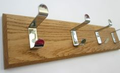 9 sizes SOLID OAK HANDMADE WOODEN COAT RACK BOARD HANGER HANGING PEGS RAIL 115