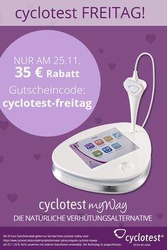 """25.11. ist cyclotest Freitag! Du erhältst 35 € Rabatt beim Kauf eines cyclotest myWay. Einfach beim Kauf den Gutscheincode """"cyclotest-freitag"""" eingeben."""