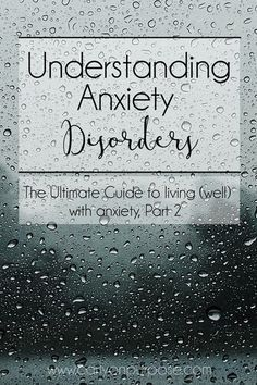 Understanding an anxiety disorder is the first stop towards understanding how to deal with anxiety.