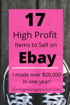 I'm sharing exactly what I sold on Ebay to make extra money-over $20,000 in one year. And how you can get started and make extra money too! #sellonebay #sidehustle #whattosellonebay Making Money On Ebay, Make More Money, Make Money From Home, Extra Money, Ebay Selling Tips, Selling Online, Ebay Tips, Online Business, Business Marketing