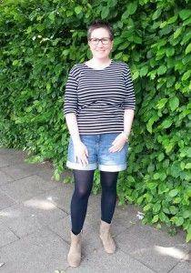 #ootd zum Tag des Ringelshirts mit Amor Lux und Shorts von #bonaparte