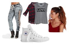 """""""Untitled #8"""" by cherokee-thompson on Polyvore featuring Wet Seal, Carmakoma, Converse and Missguided"""