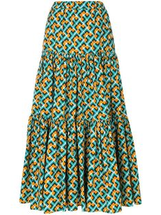 Check out La Doublej with over 1 items in stock. Shop La Doublej tiered peasant skirt today with fast Australia delivery and free returns. African Maxi Dresses, Latest African Fashion Dresses, African Dresses For Women, African Print Fashion, African Attire, African Wear, Latest Ankara Dresses, Ankara Dress Styles, Ankara Rock