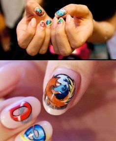 ...  today we'd like to share 14 creative nail designs with all you guys that love the nail art. Description from inewidea.com. I searched for this on bing.com/images
