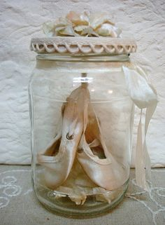 I have some old pointe shoes that would be much better off displayed in something like this than shoved in a box at the back of my closet.
