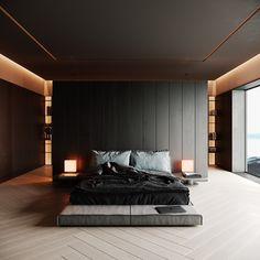 Bedroom Inspiration // Makseem Knife The Perfect Scandinavian Style Home Bedroom Loft, Modern Bedroom, Living Room Bedroom, Master Bedroom, Bedroom Decor, Loft Design, House Design, Lofts, Loft Interior
