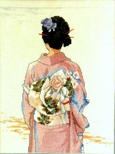 Elsa Williams the Kimono Graceful Elegance of the Orient Cross Stitch Kit by Elsa Williams, http://www.amazon.com/dp/B00CKX0UVE/ref=cm_sw_r_pi_dp_m5cLrb0MS8GWR