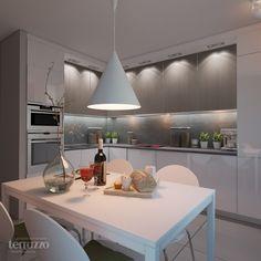 Дизайн Кухни: Дизайн-проект двухкомнатной квартиры в Клевер Парк