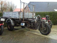 Moto Guzzi Ercole staat klaar voor transport.