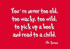 Reading to Mylie today, a great way to spend a day!       ..Dr. Suess