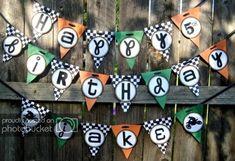 Boys Banner ~ soccer or race car theme Motocross Birthday Party, Bike Birthday Parties, Dirt Bike Birthday, Birthday Fun, Birthday Party Themes, Birthday Ideas, Dirt Bike Party, Motorcycle Party, Kids Party Themes