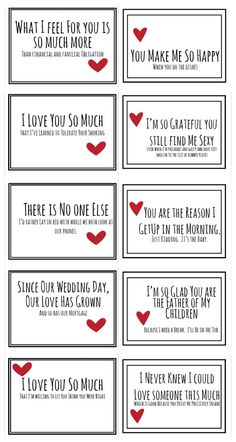 Realistic Valentines for you husband free prinable