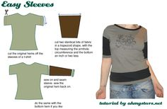 This could work to replace/lengthen sleeves