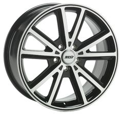 17 ZCW SHARP GLOSS BLACK POLISHED FACE alloy wheels for 5 studs wheel fitment in 7x17 rim size