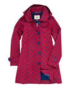 Berry Dot Rain Jacket
