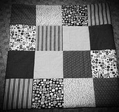 Quilts & Patchwork - Decke Patchwork 80x80cm - ein Designerstück von bEnOtO bei DaWanda