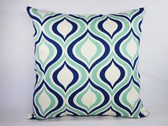Two Decorative Throw Pillow Covers  Navy and by CastawayCoveDecor, $30.00