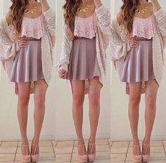 Cute skirt. Super adorable shirt. I want the whole outfit.