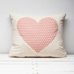Poduszka ekologiczna czerwone serce