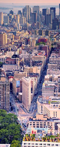 NYC. Aerial view of Lower Manhattan looking South // by Tony Shi via Flickr
