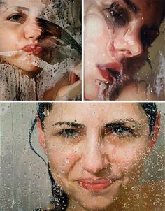 """Alyssa Monks describes her work as portraying """"simultaneous empathy and detachment,"""" which seems an accurate assessment. Her incredibly detailed oil paintings usually show unguarded moments, but with a certain amount of distance. Much of her work features water, which she renders perfectly. Monks is currently an instructor at both Montclair State University and and the New York Academy of Art."""