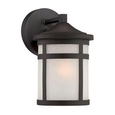 Acclaim Lighting Visage Collection Wall Mount 1-Light Outdoor Matte Black Light Fixture-4714BK - The Home Depot
