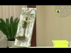 Santa Receita | Aprenda a fazer uma placa decorativa estilo demolição com Adriana Moura - YouTube