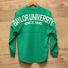 Baylor University Spirit Jersey I want this for Christmas Southern Shirt Co, Baylor University, Spirit Shirts, Spirit Jersey, Spirit Wear, Preppy, What To Wear, Cute Outfits, My Style